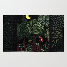 Into The Woods At Night Rug
