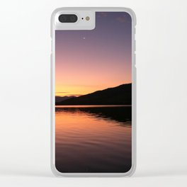 Last Breath of the Day Clear iPhone Case