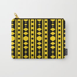 Tribal Yellow Pattern Carry-All Pouch