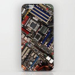 Computer motherboard iPhone Skin
