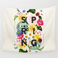 spring Wall Tapestries featuring SPRING by Dawn Gardner