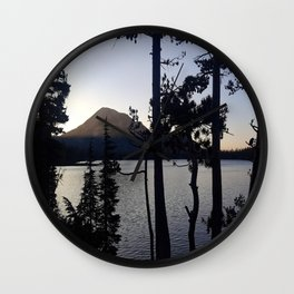 Twilight in Mammoth Wall Clock