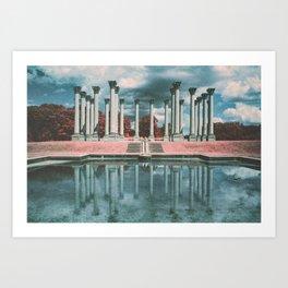 Capital Columns Infrared Art Print