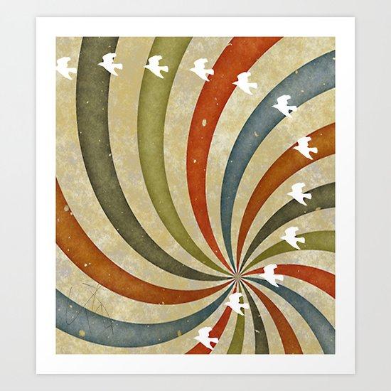 migratory birds Art Print