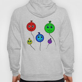 Happy colorful balloons flying in the sky Hoody