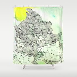 spiders from mars Shower Curtain