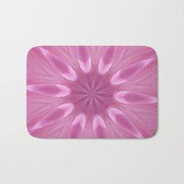 Sweetly Soft Pink Girly Kaleidoscope Bath Mat