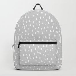 Light Gray Paint Drops Backpack