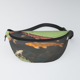 Lillies and Coy Fish Fanny Pack