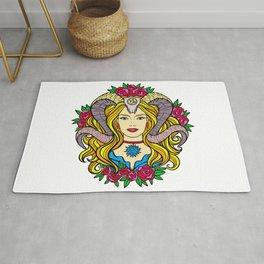The Horned Goddess (Painting) Rug