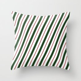 Peppermint Candy Cane Throw Pillow