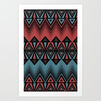 ethnic Art Prints featuring ethnic by Sezgen