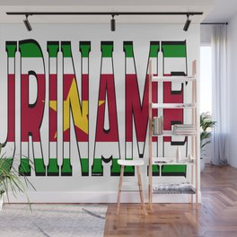Suriname Font With Surinamese Flag Wall Mural