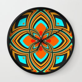Spiral Rose Pattern B 2/4 Wall Clock