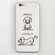 Inhale Exhale Dachshund iPhone & iPod Skin