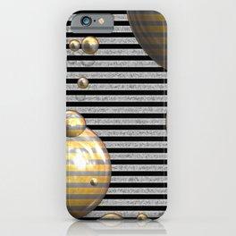 Striped Bubbles iPhone Case