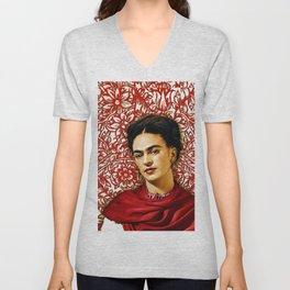 Frida Kahlo 2 Unisex V-Neck