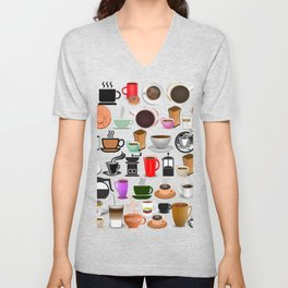 Coffee Mugs, Cups and Makers Unisex V-Neck