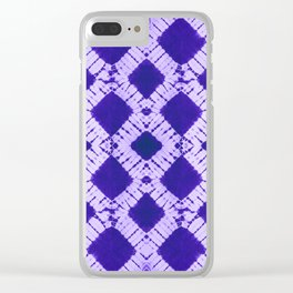 big checkered tie-dye Clear iPhone Case