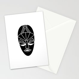 African black traditional tribal mask Stationery Cards