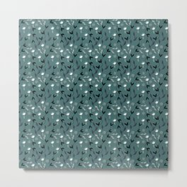 Dotted Flower Fields Metal Print