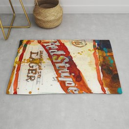 Red Stripe Jamaican Style Lager Beer Rug