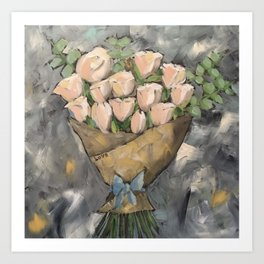 Love Market Bouquet Art Print