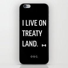 I LIVE ON TREATY LAND iPhone & iPod Skin