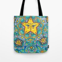 constellations Tote Bags featuring Constellations by Emilie Darlington