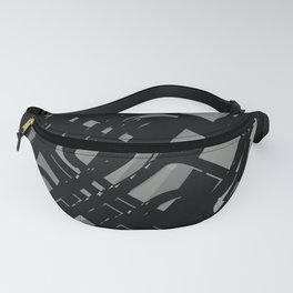 3D Abstract Futuristic Background X. 13 Fanny Pack