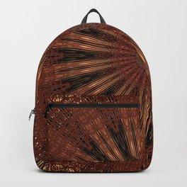 Rust Brown Bohemian Mandala Backpack