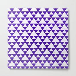 Purple triangles pattern Metal Print