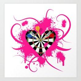 Dartboard Romance Art Print