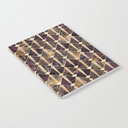 Art Deco Tiles - Plum Notebook