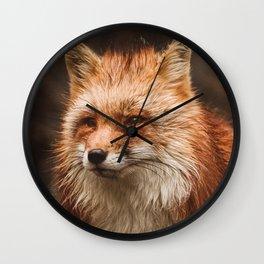 American Red Fox Wall Clock