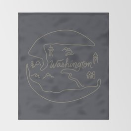 Washington State Throw Blanket