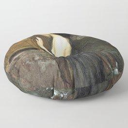 Pandora by John William Waterhouse Floor Pillow