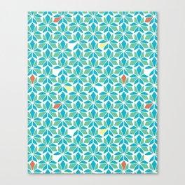 Blue Vitral Canvas Print