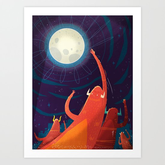 :::Touch the Moon::: Art Print