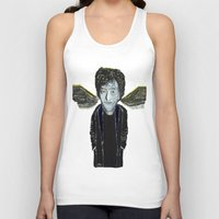 vonnegut Tank Tops featuring Kurt Vonnegut Jr Oil Painting by Tony King  by Tony King - Beautifully Mad