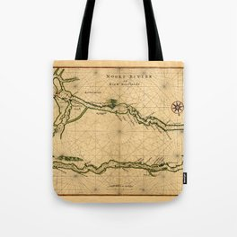 Map Of The Hudson River 1639 Tote Bag