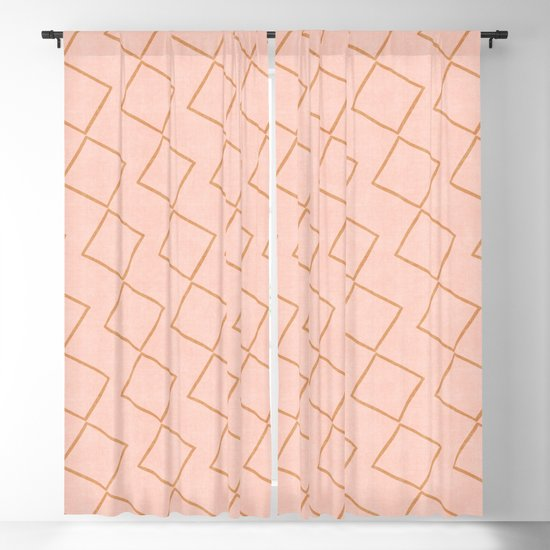 Tilting Diamonds in Peach by beckybailey1