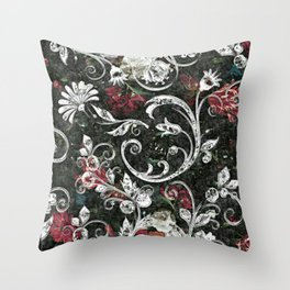 Baroque Bling Throw Pillow