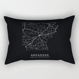 Arkansas State Road Map Rectangular Pillow