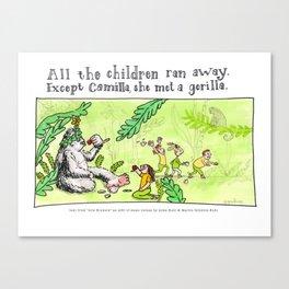 Camilla met a Gorilla Canvas Print