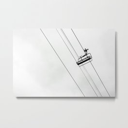 I Want to Be Skiing Metal Print