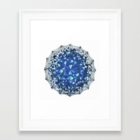 snowflake Framed Art Prints featuring Snowflake by LDBEAN