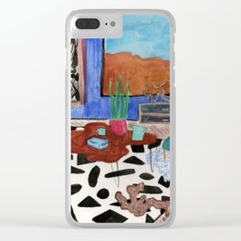 Mid Century Desert Home Clear iPhone Case