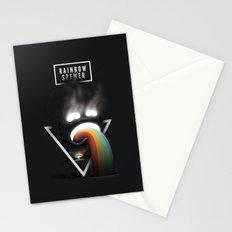 Rainbow Spewer Stationery Cards
