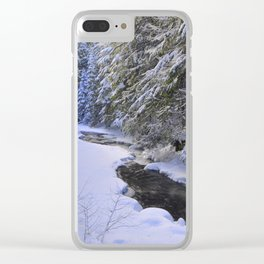 Snowy River Clear iPhone Case